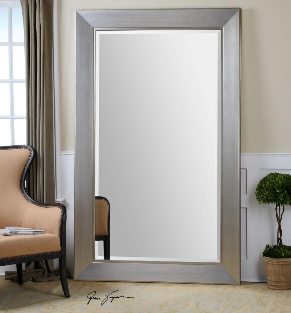 Williams sonoma home five panel beveled mirror - This 82 X 52 Silver Framed Mirror From Uttermost Makes A Big Impact In