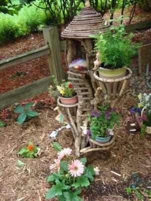 how cute i want a little fairy house in our garden zauberwald und elfengarten pinterest. Black Bedroom Furniture Sets. Home Design Ideas
