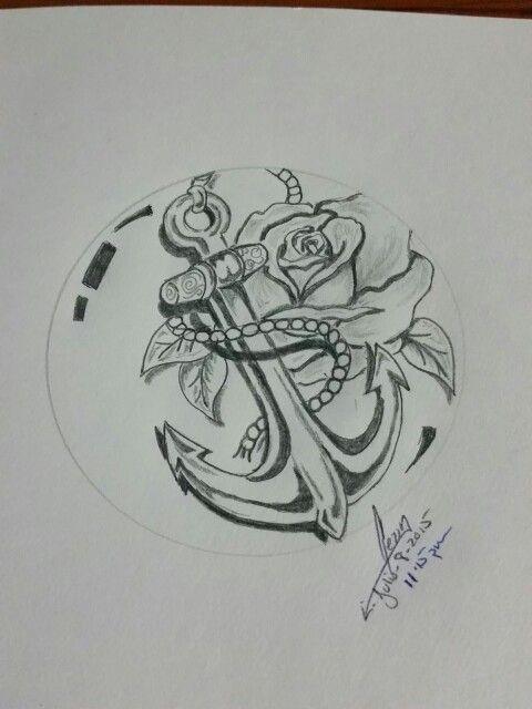 #anchor #rosas #ancla #GerrysTattoo | Dibujos | Anclas ...