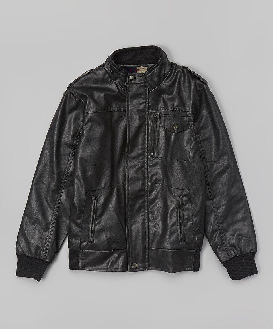 Loving this Daniel L Black Faux Leather Jacket Boys on