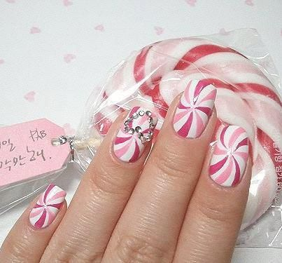 pink candy nails #nailart