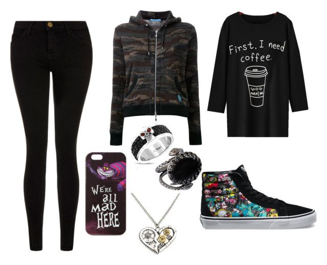 """winter indoor clothes"" by kokuhiryu ❤ liked on Polyvore featuring Ela Stone, Disney, Vans, Guild Prime, Bling Jewelry and Current/Elliott"