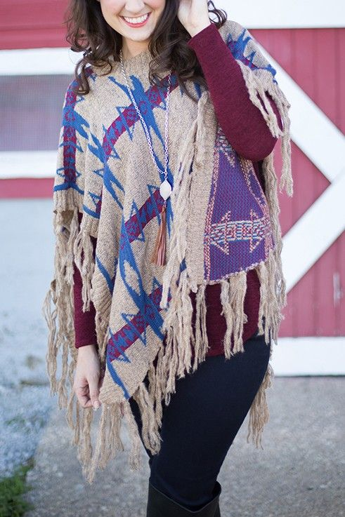 Intersecting Paths Poncho