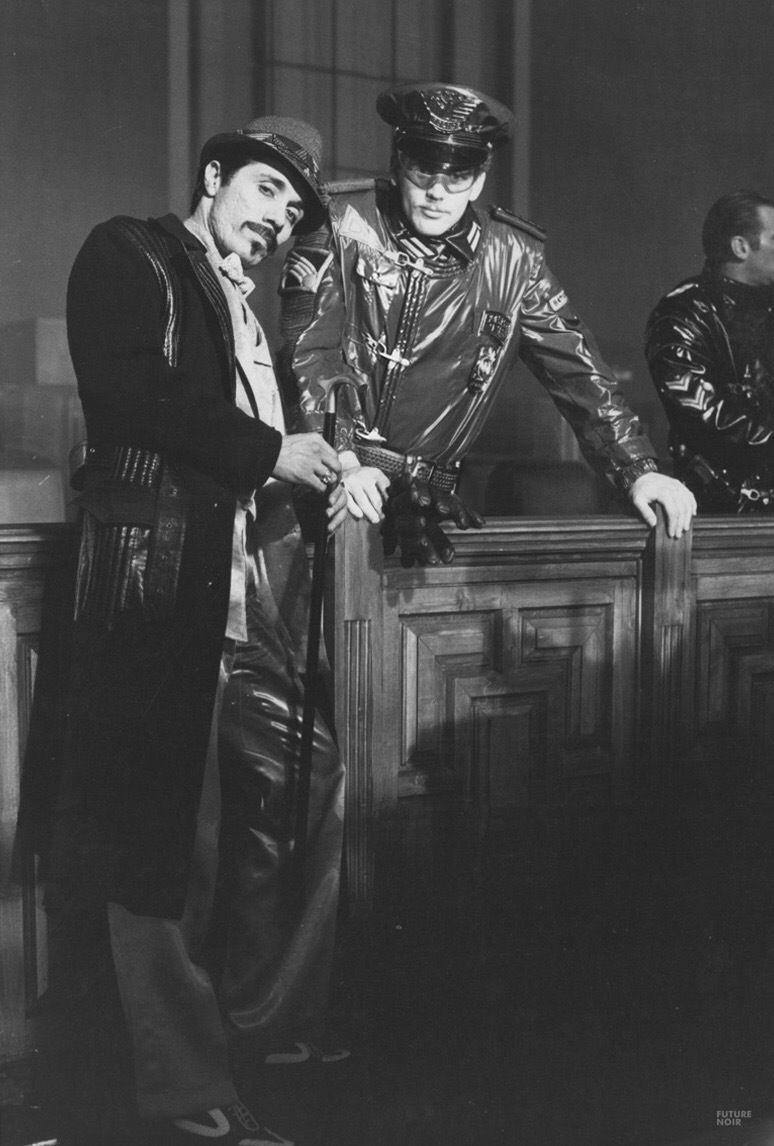 Edward James Olmos behind the scenes on #BladeRunner (1982)