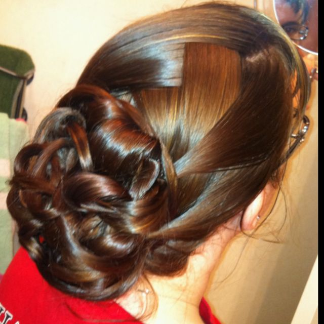 Updo my sister did on my hair!