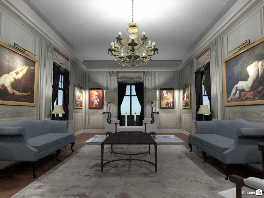 Classic interior, living room, PLANNER 5D | Living room ...
