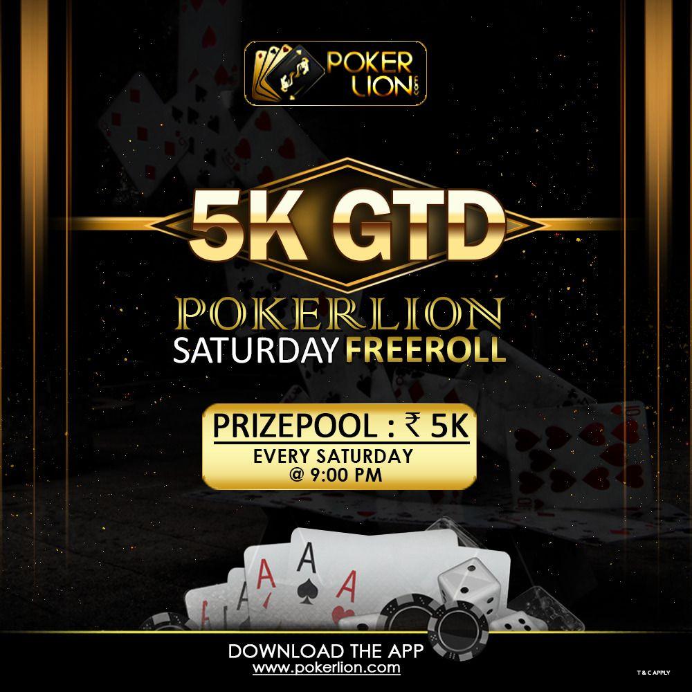 PokerLion 5K GTD Saturday Freeroll Poker, Money games