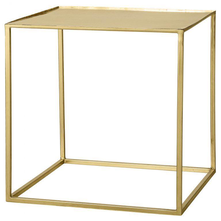 Beistelltisch Cube Gold Beistelltisch Cube Beistelltische
