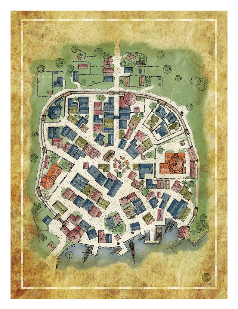 Location Mapping, Foto Generic Village Town Map Feel Free To Use Pen Ps, Location Mapping