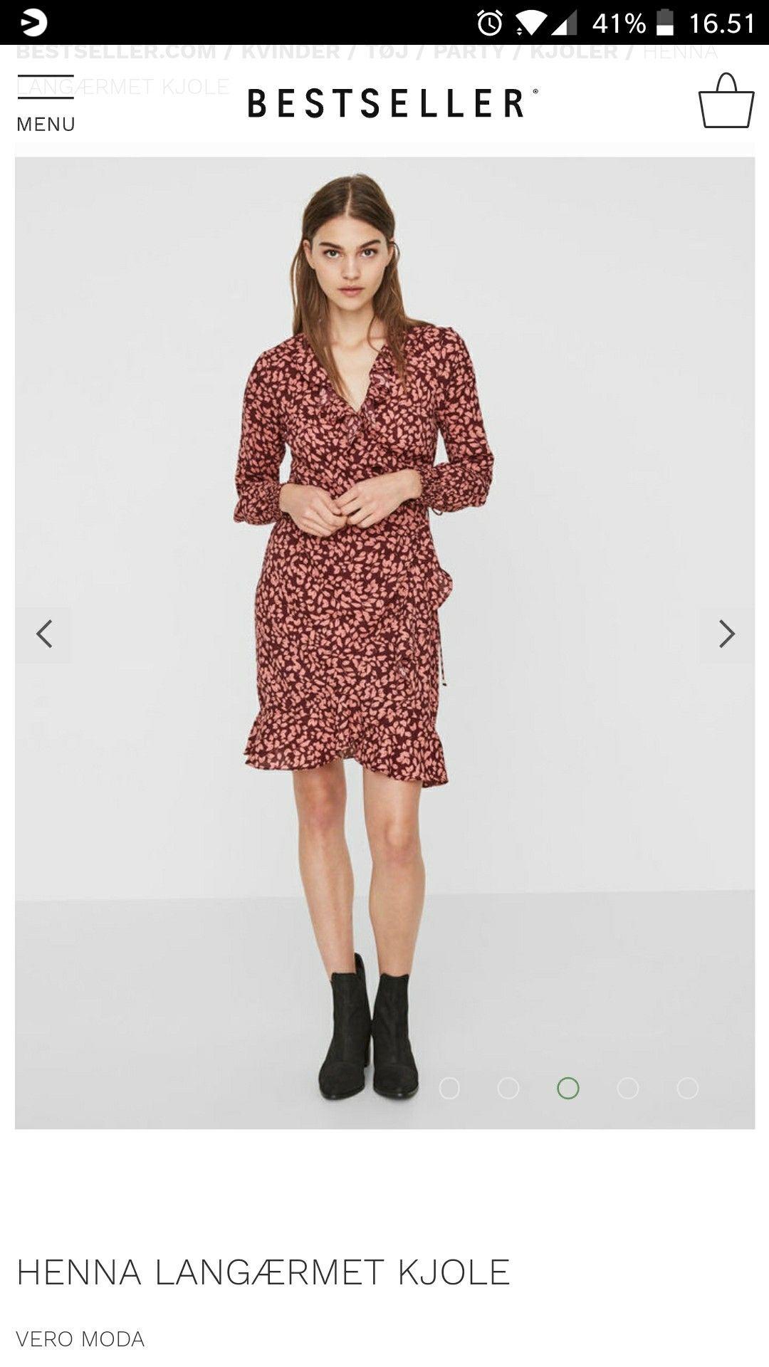 28a93f56 Henna langærmet kjole fra veromoda i medium | Ønskeliste ...