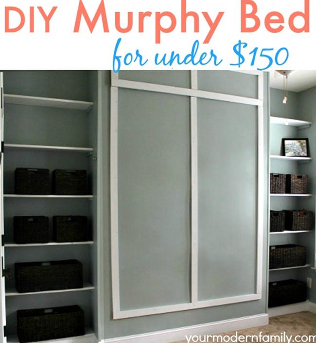 Your Modern Family Wall Bed Tutorial Decoist Murphy