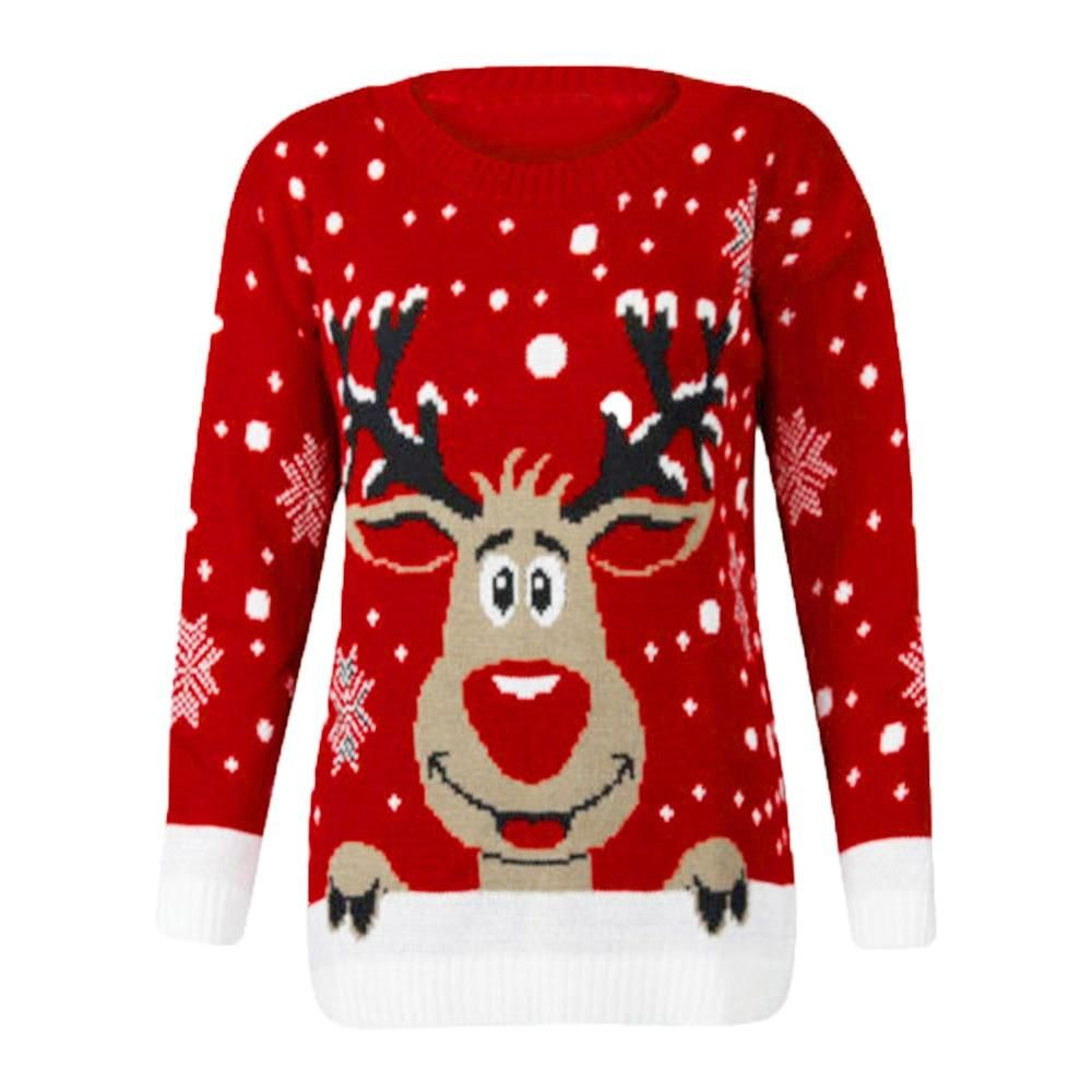 Details about  /Couple Warm Pullover Hoodie Christmas Casual Hooded Jumper Sweatshirt Sweater