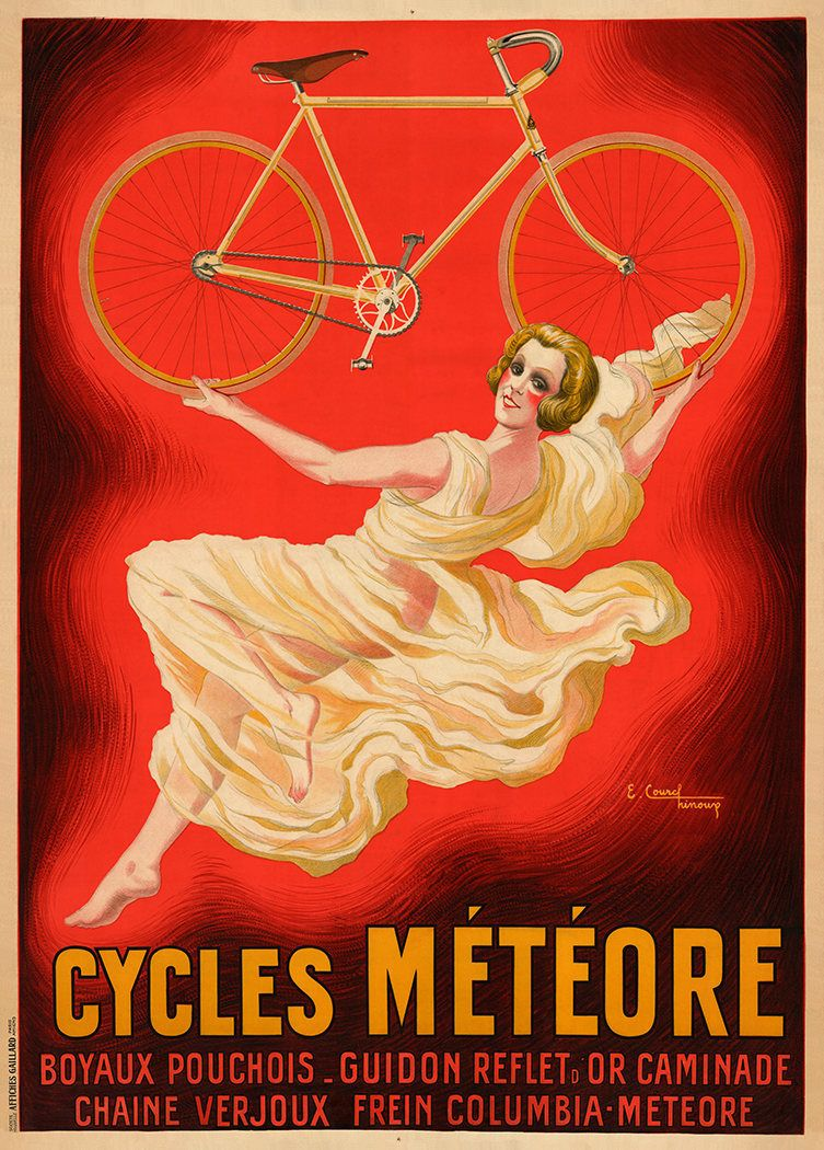 Cycles Meteore Cycling Artwork Cycling Posters Cycling Posters Bicycle Art