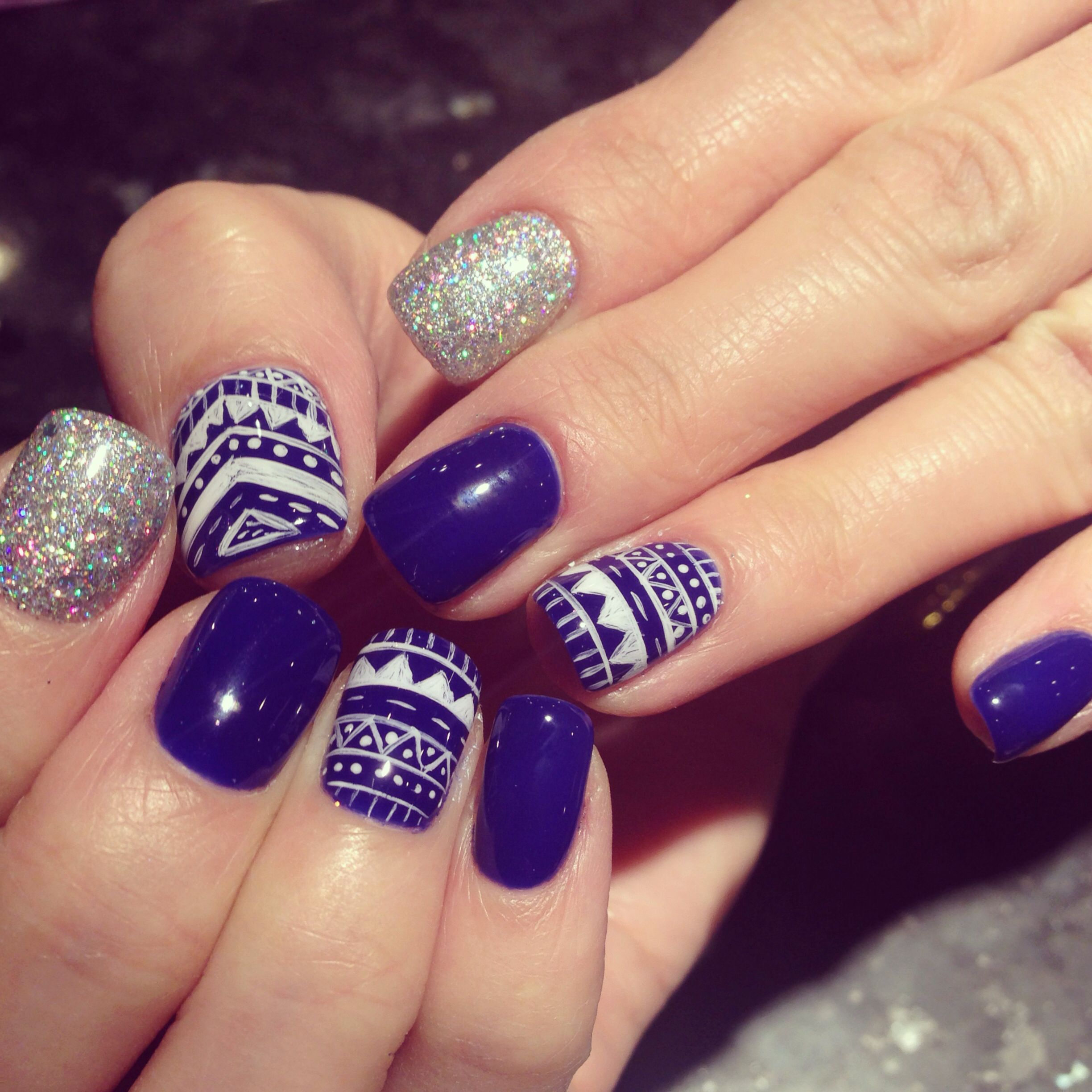 #nails , #tribal #aztec Nail Design With #gel Color