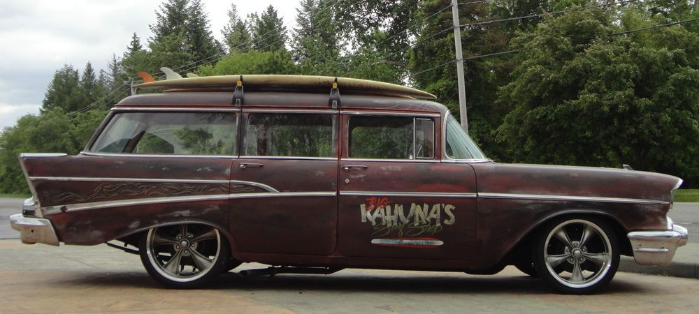 1957 Chevy 210 4 Door Station Wagon Rat Rod Lowered Not Bagged Chevy Chevrolet Bel Air Wagons