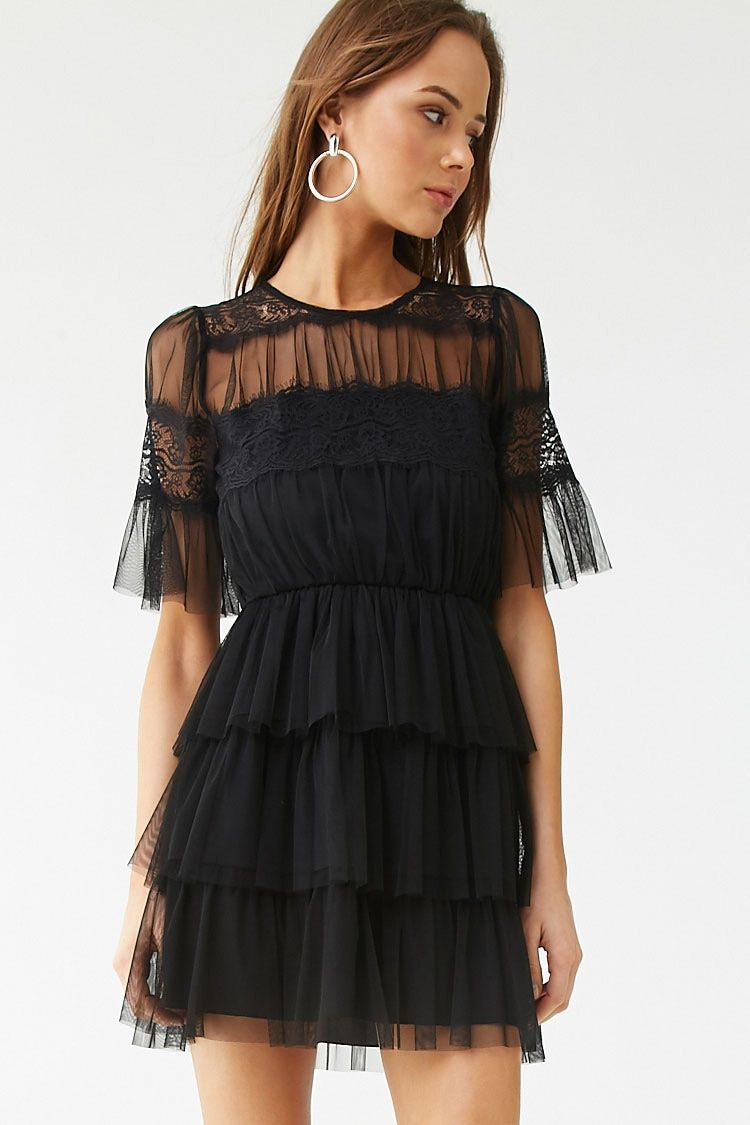 Sheer Tiered Ruffle Dress Forever 21 Pink Dress Short Tiered Ruffle Dress Dresses [ 1125 x 750 Pixel ]