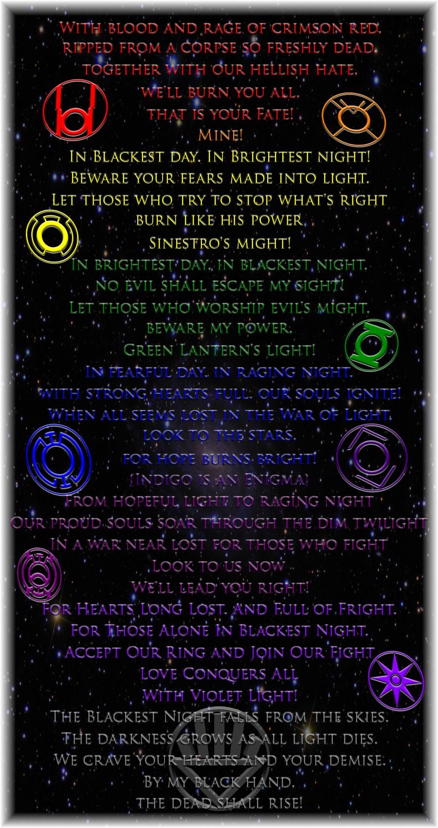 Lantern corp oaths   Lanterns, Lantern corps oaths, Blue ...