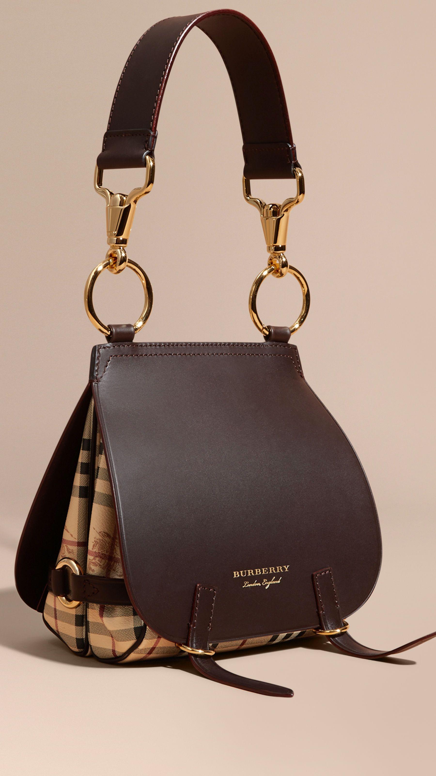 Burberry Tasche Zaumzeug Leder