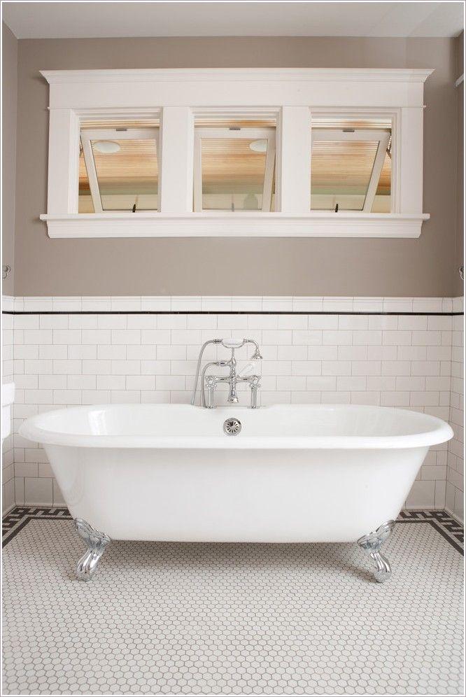 Bathroom traditional minneapolis 3 6 tile arts and crafts for Arts and crafts bathroom ideas