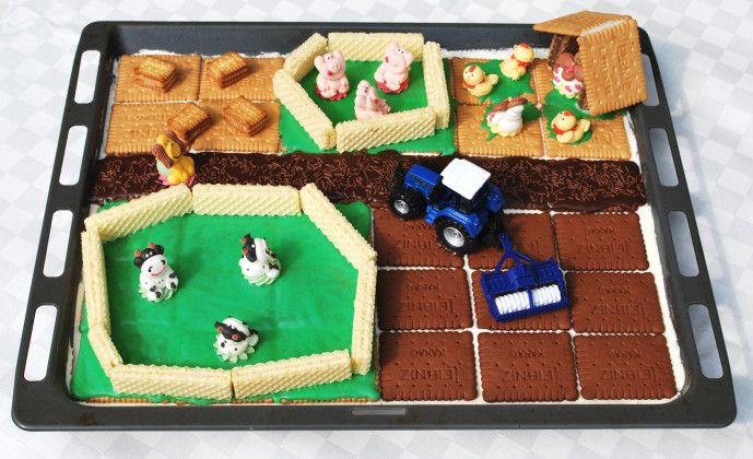 Bauernhof Kuchen Kindergeburtstag Kuchen Bauernhof Kuchen Kindergeburtstag Traktor Kindergeburtstag Bauernhof