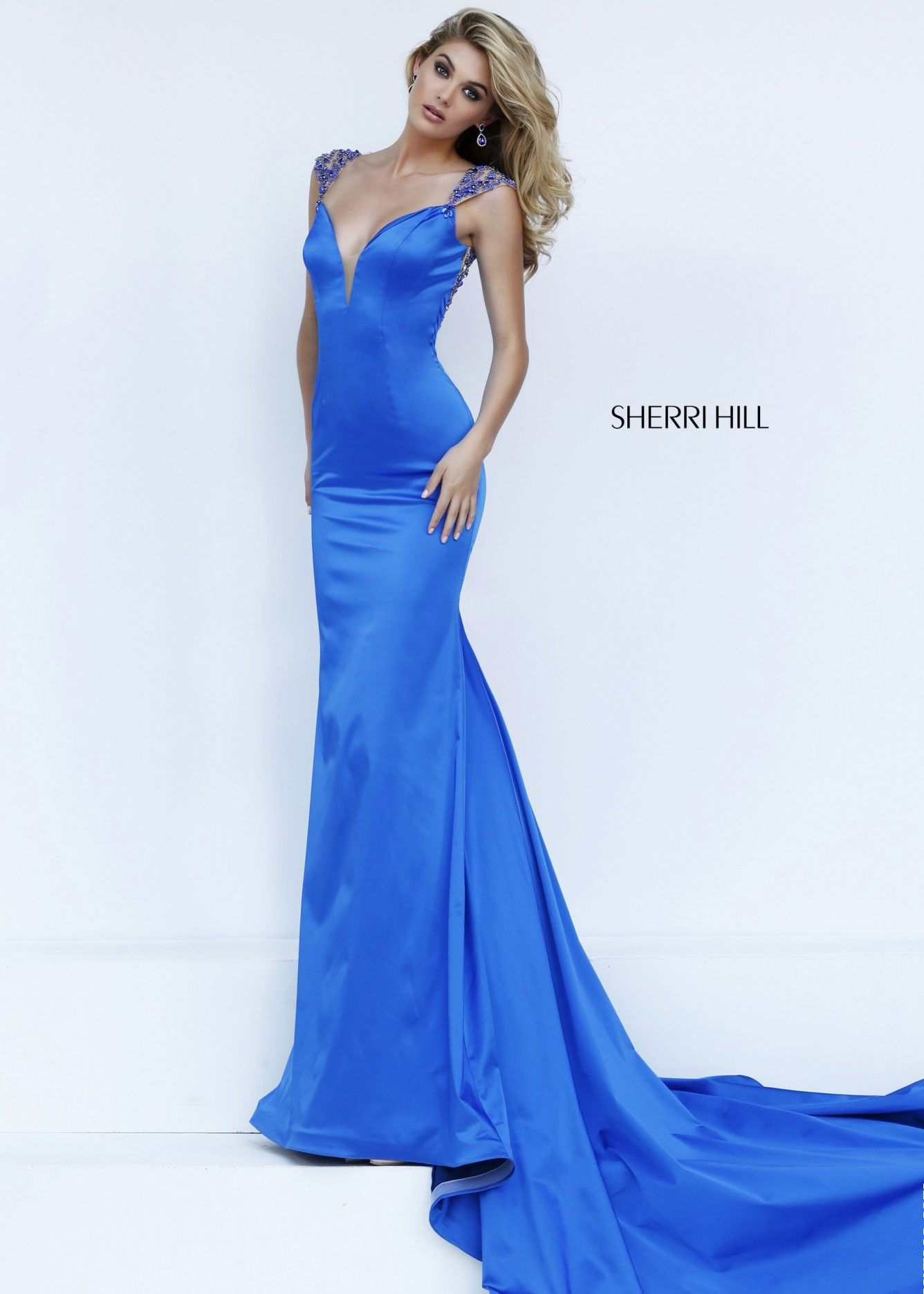 Sherri Hill 50043 Glamorous Jeweled Satin Evening Gown. Prom Dresses  2016Dress PromSexy ...