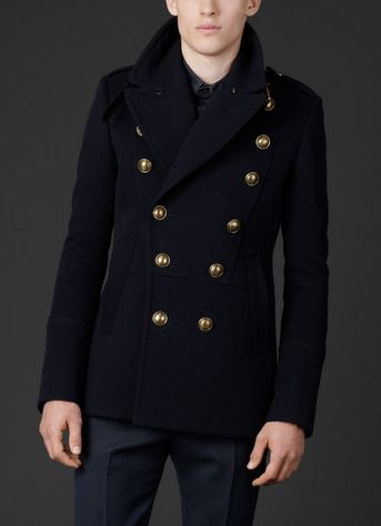 Navy pea coat is a cold weather garment issued for the navy. These ...