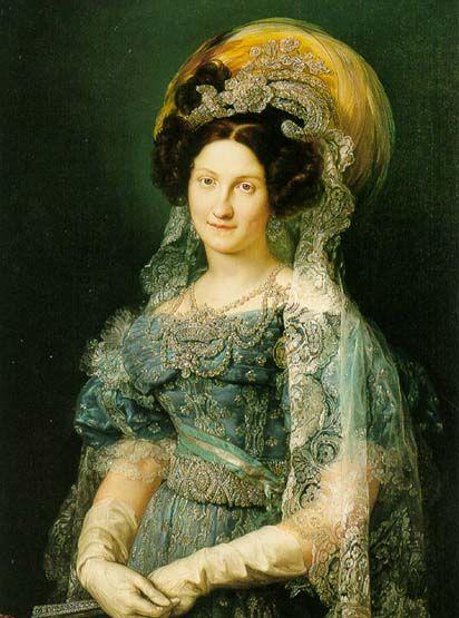 Retrato de María Cristina de Borbón-Dos Sicilias, Reina de España(1830). Vicente López y Portaña (1772-1850). Museo del Prado.