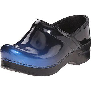 Dansko Women's Professional Blue Ombre Patent Mule - Best Shoes for Nurses - Nursing Shoes affiliate
