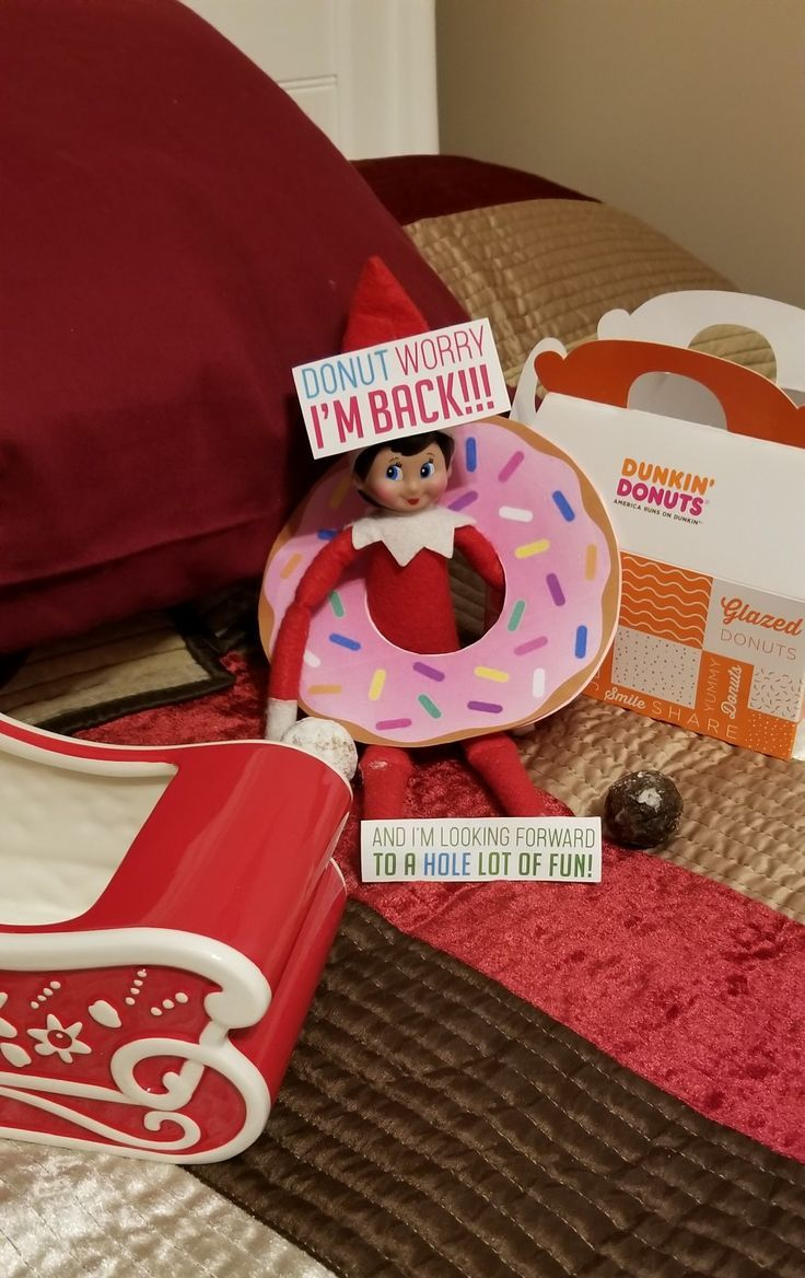 Could use sign with donuts as the welcome back gift