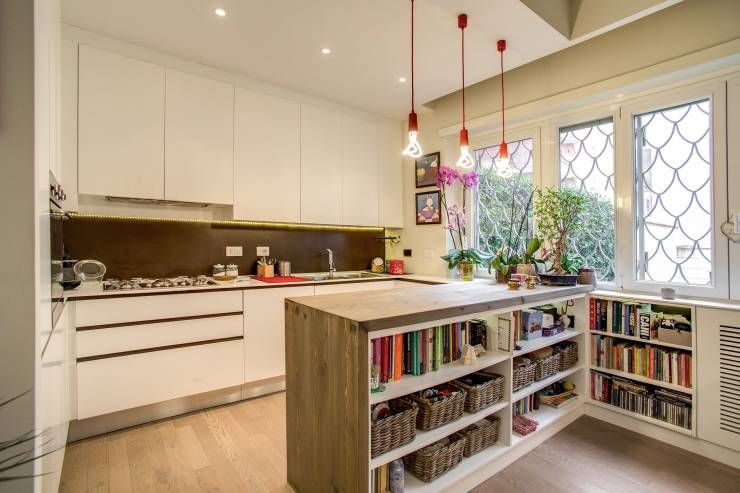 Risultati immagini per muretti divisori cucina soggiorno | Piccole ...