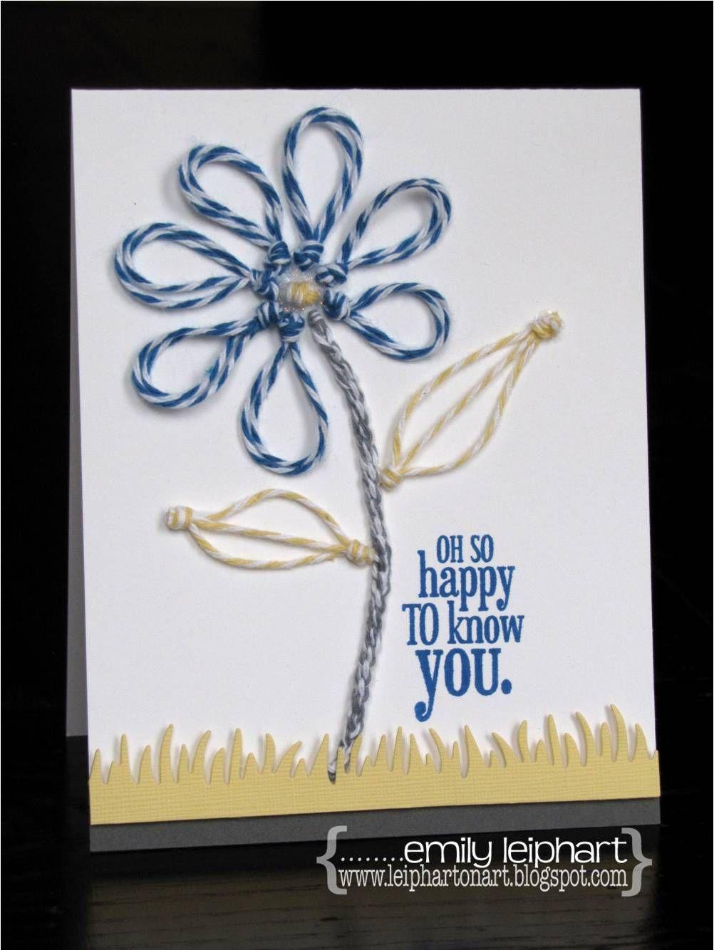 Great twine card by alumni designer Emily Leiphart
