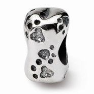 Sterling Silver Dog Bone Bead Charm