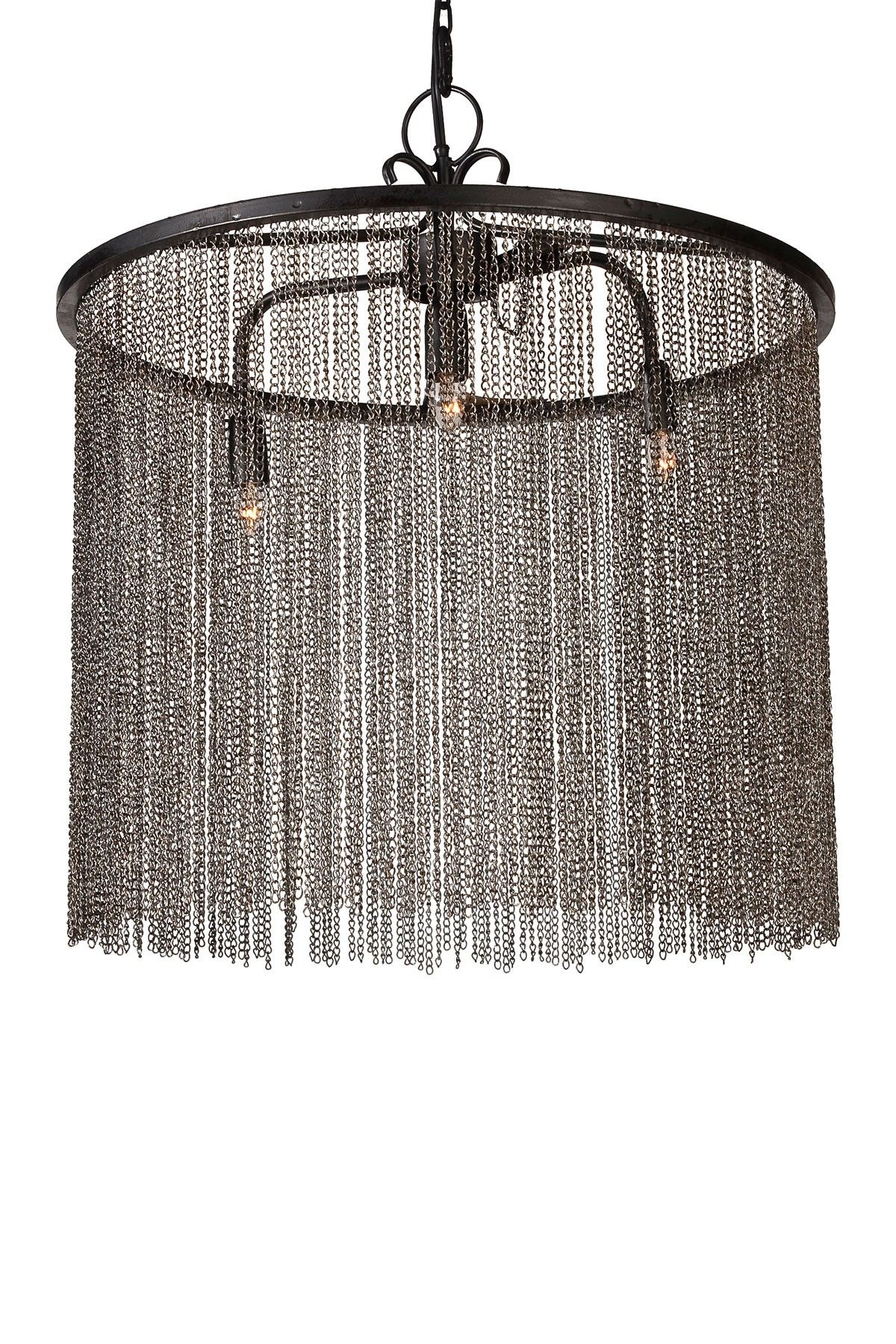 Allied Rich Hanging Chain Link Chandelier With Images Drum Chandelier Chandelier Lighting Chandelier