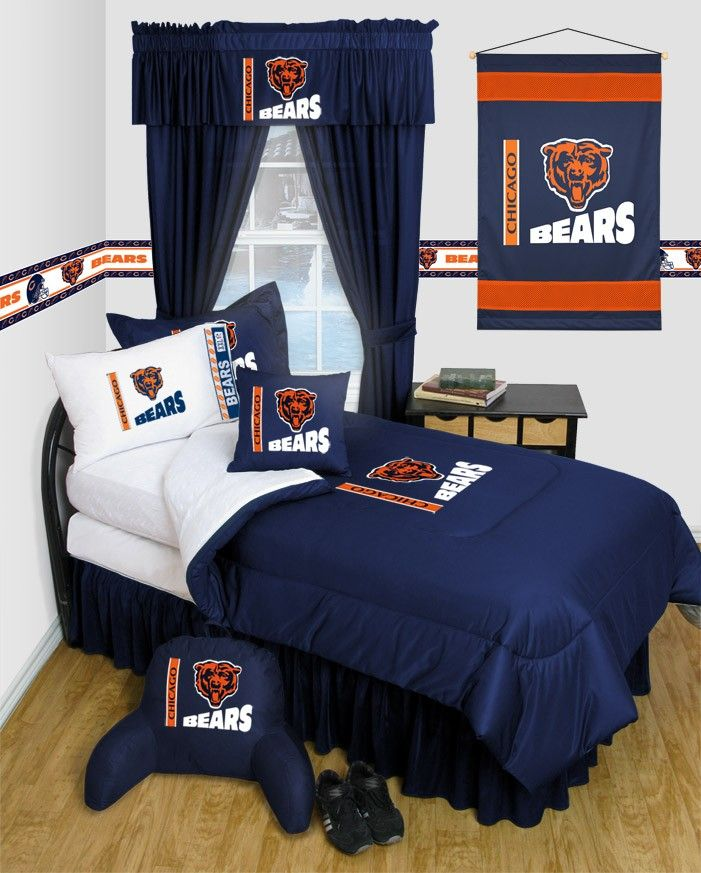 Chicago Bears Comforter Sheets Deluxe Bed Room Set