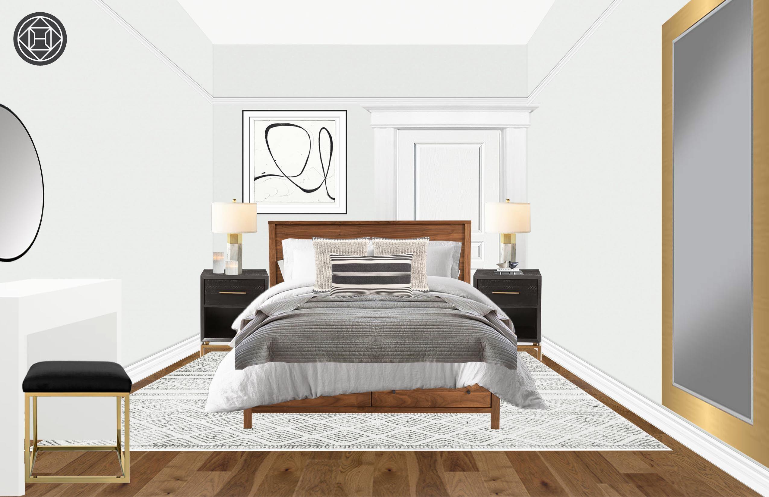 Best Glam Midcentury Modern Bedroom Design By Havenly Interior 640 x 480