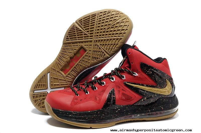 Nike LeBron X PS Elite - Red/Black Basketball Shoes