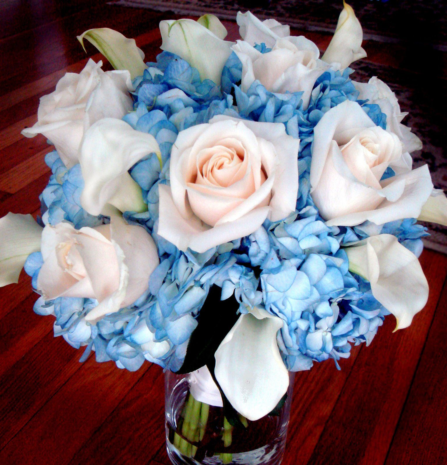 Nature offers us a wide variety of blossoms and colors of the blue and white wedding flowers maybe just white roses instead of pale pink to keep it sharp dhlflorist Image collections