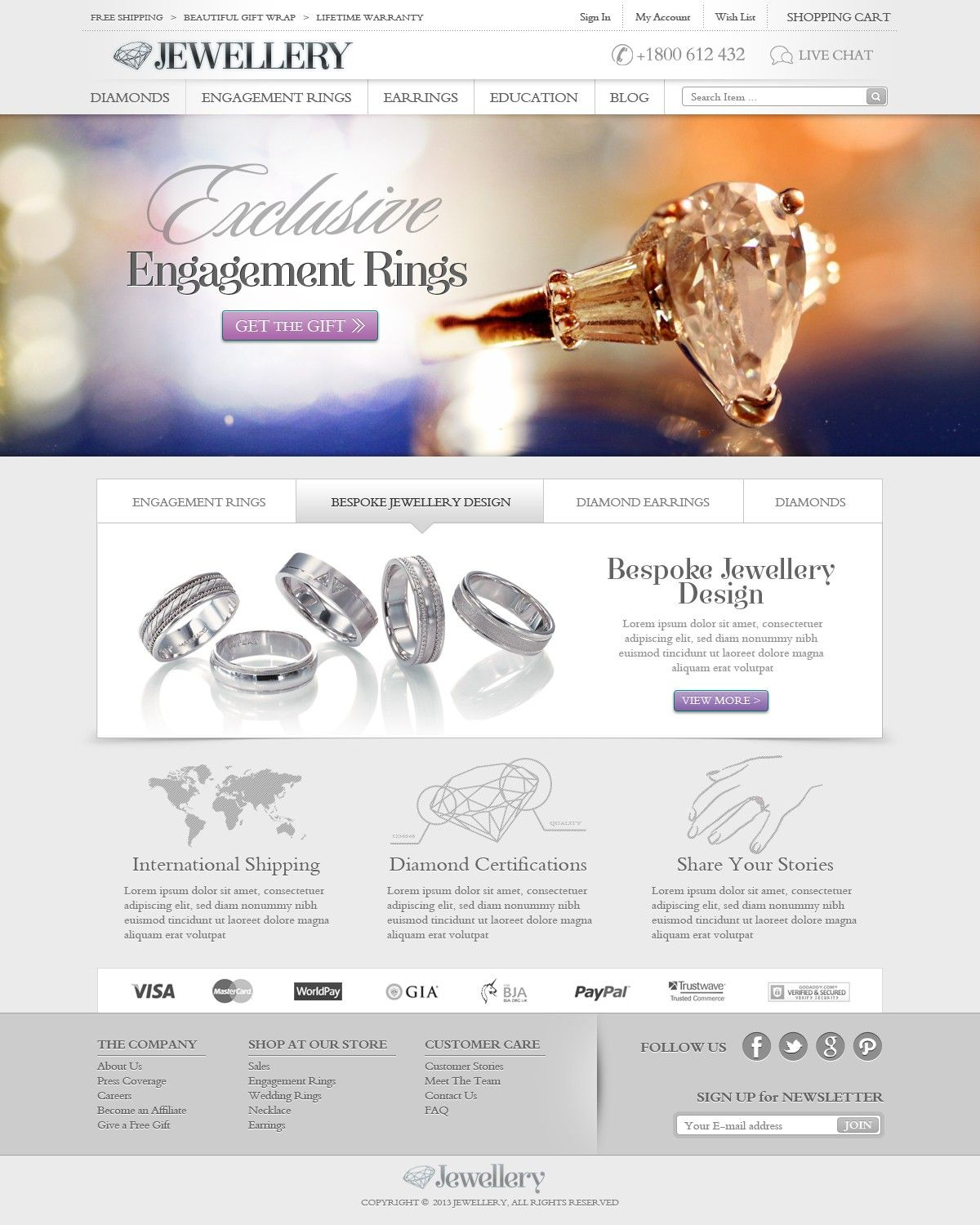 Jewellery Website Design 3 Pages Only Amazing And Trusted E Commerce Site 99designs Jewelry Website Design Website Design Jewelry Website