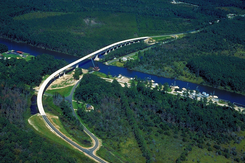 Hobucken Bridge in North Carolina Intracoastal waterway