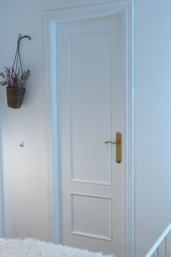 Pintar las puertas de tu hogar con chalk paint pintura - Pintar puertas blancas ...
