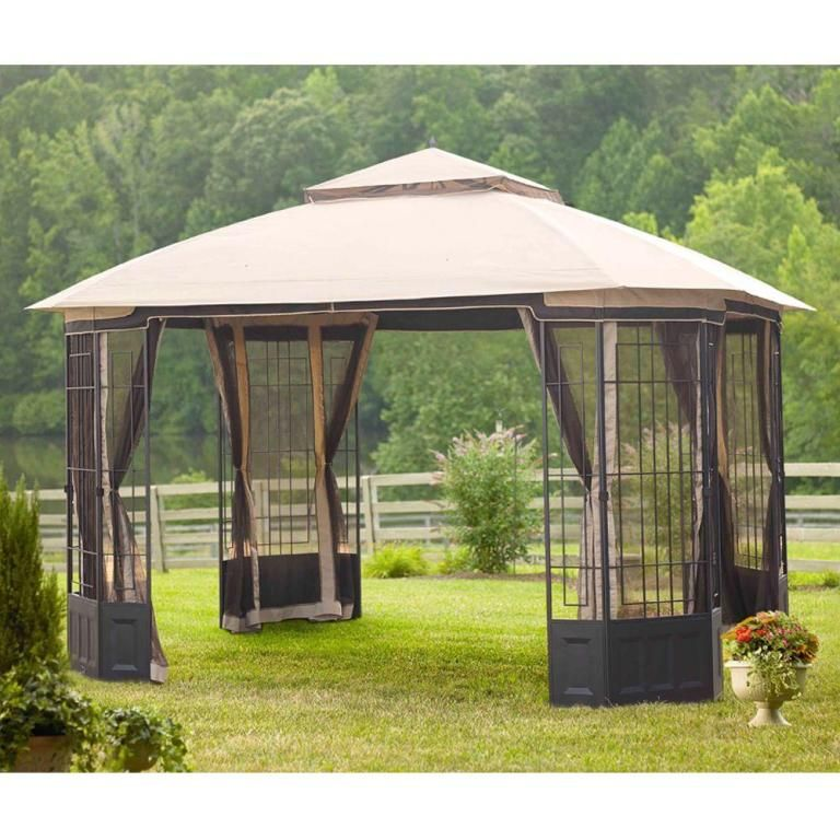 Exterior: Best Better Homes And Gardens Portable Patio Gazebo Replacement Canopy  Outdoor Patio Canopy Gazebo