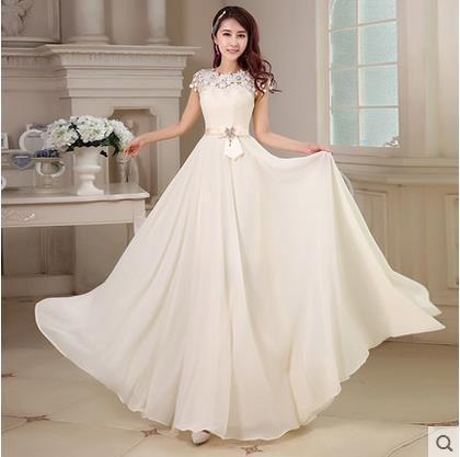 Moda coreana vestidos de noche largos