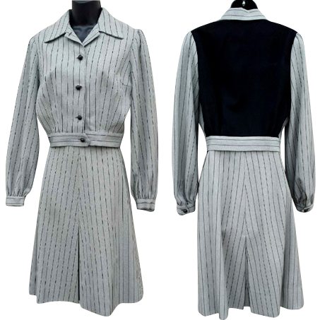 1940s Women's Gabardine Suit Eisenhower Style Jacket Medium to Large from toinetterl on Ruby Lane