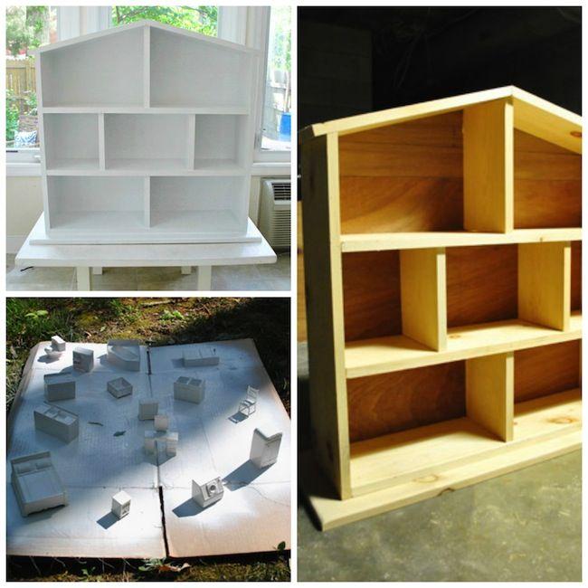 C mo hacer una casita de mu ecas en casa a partir de for Como construir una casita de madera