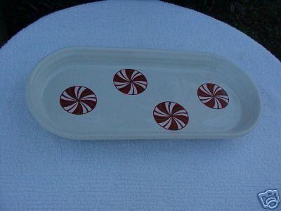 Christmas Fiestaware ® Peppermint Bread Tray
