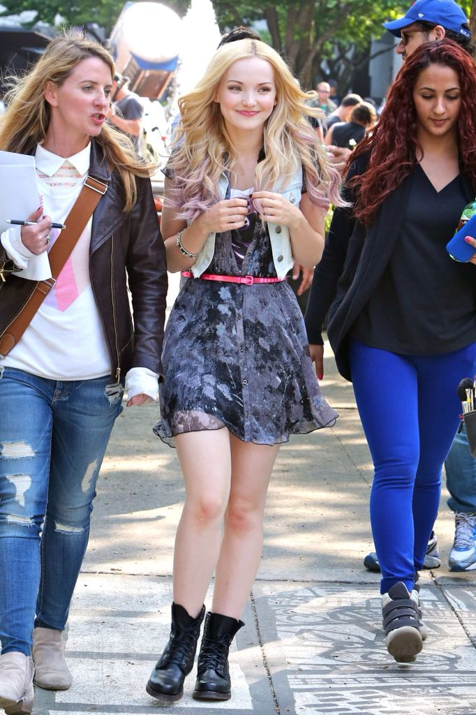 *Is walking around listening to her manager (the lady in the white shirt and black jacket) about acting an a new episode of Liv and Maddie and she nods a little and she sees you.*- Dove