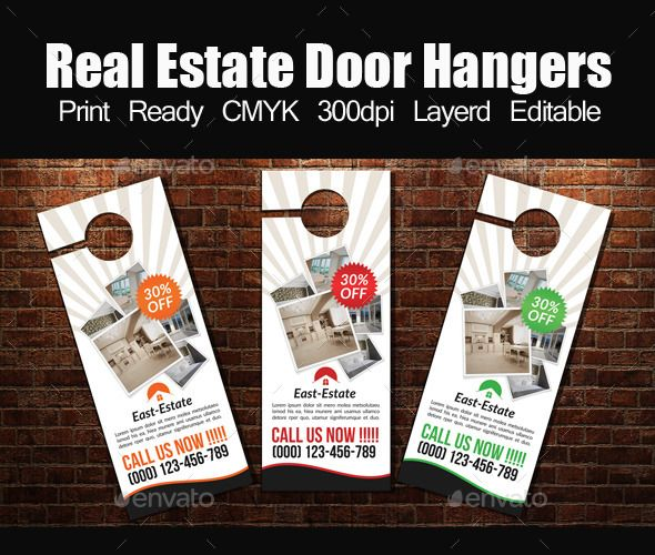 Real Estate Door Hanger Template  Door Hanger Template Real