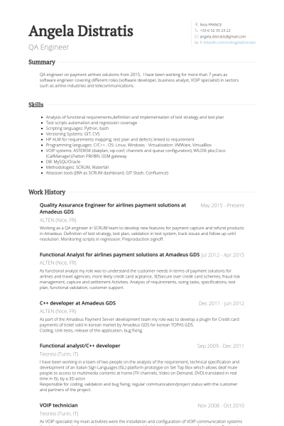 cv template qa engineer cvtemplate engineer template cv