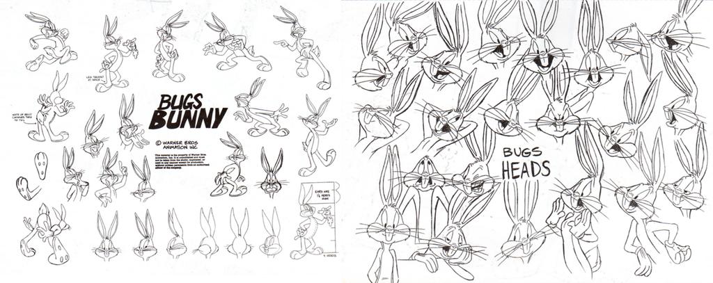 Bugs Bunny Model Sheet Pt. 1 by guibor.deviantart.com on