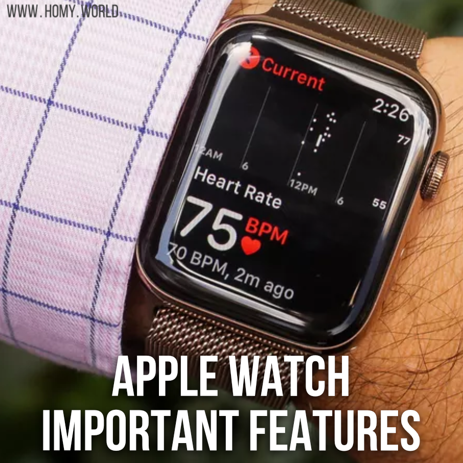 Apple Watch Important Features Apple Watch Features Apple Watch Apple